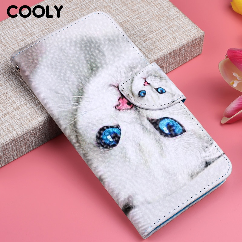 Funda de cuero COOLY para gato Xiaomi Redmi 7A 4A 5A 6A Go K20 Pro funda trasera en la nota 7 6 pro 4X cartera Flip unicornio búho teléfono Coque