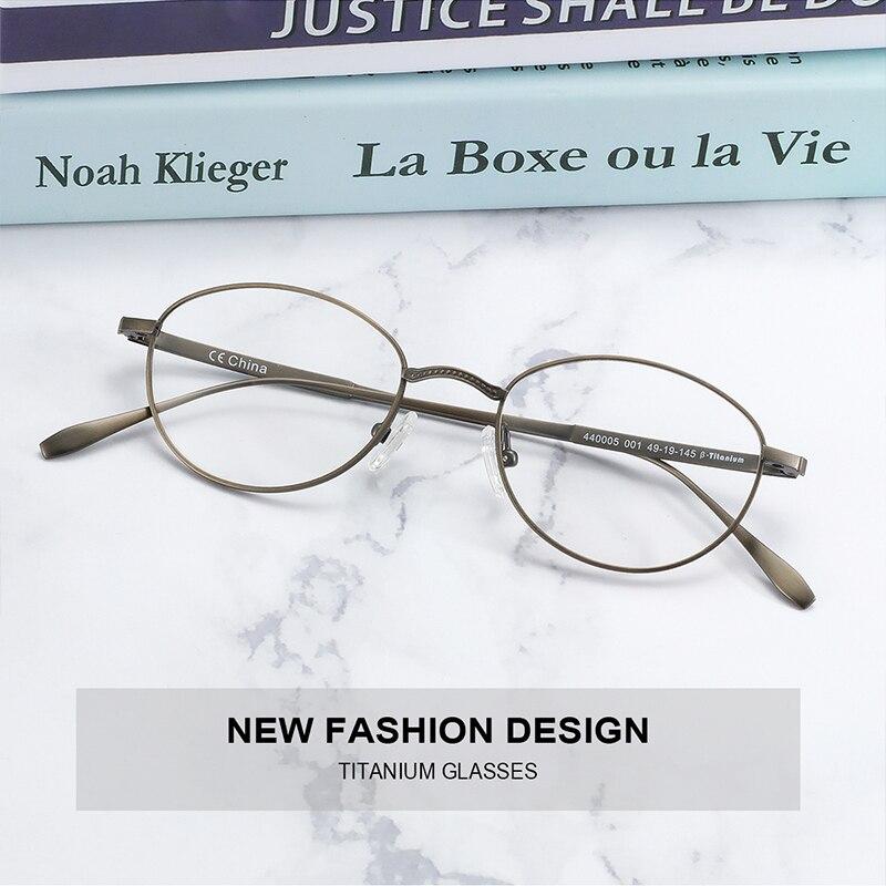 ZENOTTIC التيتانيوم النقي إطار نظارات للرجال النساء خفيفة الرجعية البيضاوي إطارات النظارات قصر النظر البصرية وصفة طبية النظارات