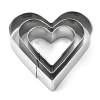 heart cookie cutters set for baby showerweddingbirthday pastry largemediumsmall basic biscuit molds steel love