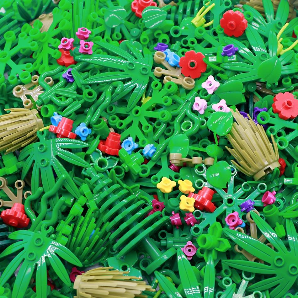 50 г дерево растение листья аксессуары Запчасти строительные блоки Совместимые трава кустарник джунгли Город Друзья MOC Кирпичи игрушки для ...