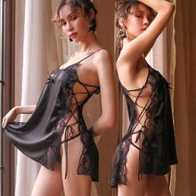 sensual lingerie woman Nightdress Sexy Lingerie Lace See-through Babydoll Underwear Sleepwear Night