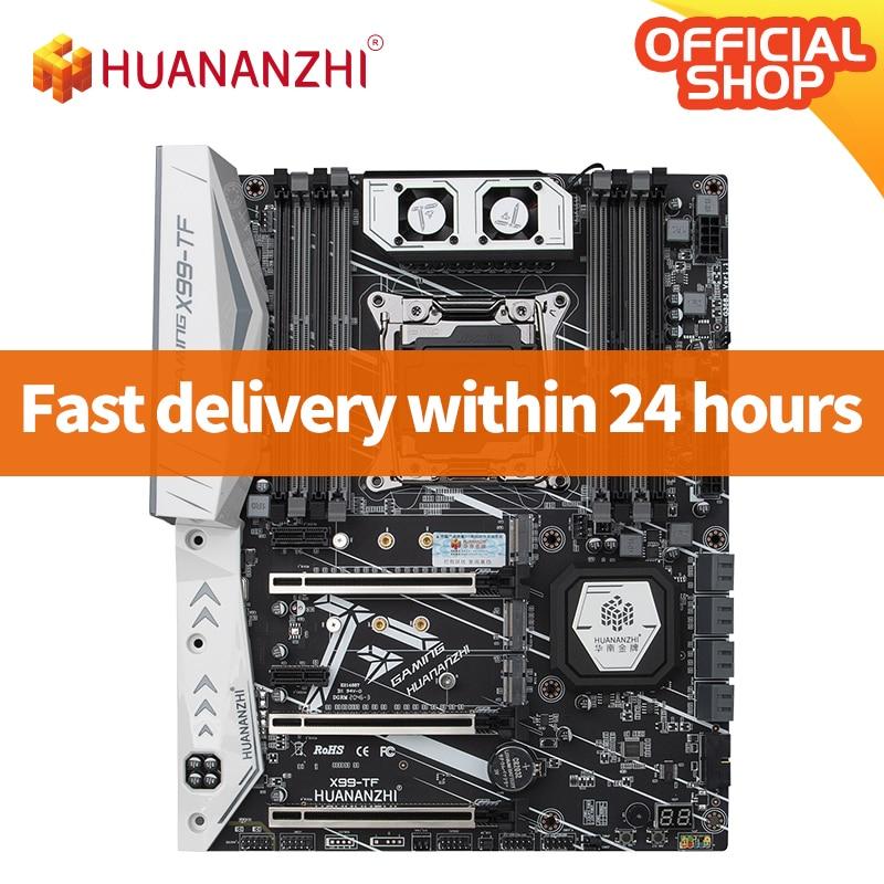 HUANANZHI X99 TF X99 اللوحة إنتل زيون E5 LGA2011-3 جميع سلسلة كلا DDR3 DDR4 RECC NON-ECC الذاكرة NVME USB3.0 ATX