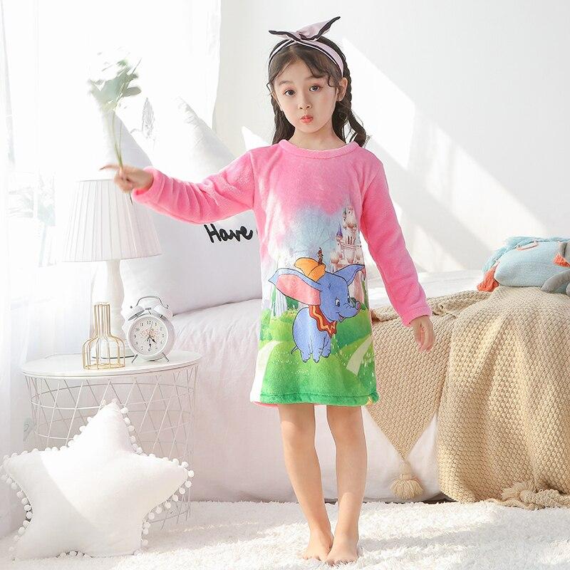 Дешевая цена мягкая Фланелевая Пижама для детей от 4 до 14 лет флисовая ночная