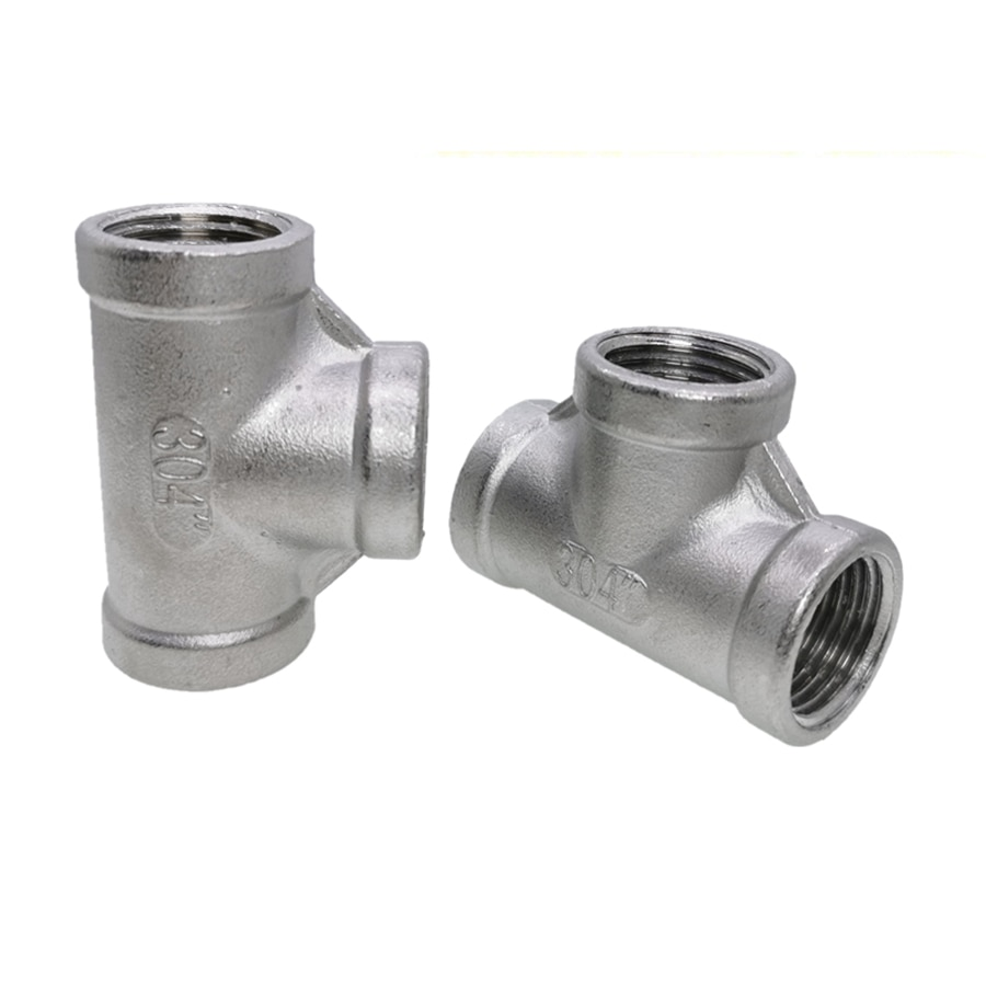 Фото - 1 PCS SS304 Stainless Steel Female Threaded 3 Way Tee T Pipe Fitting 1/8 1/4 3/8 1/2 3/4 1BSP Threaded water connection adpater 1 8 1 4 3 8 1 2 3 4 1 1 1 4 1 1 2 female threaded pipe fittings stainless steel ss304
