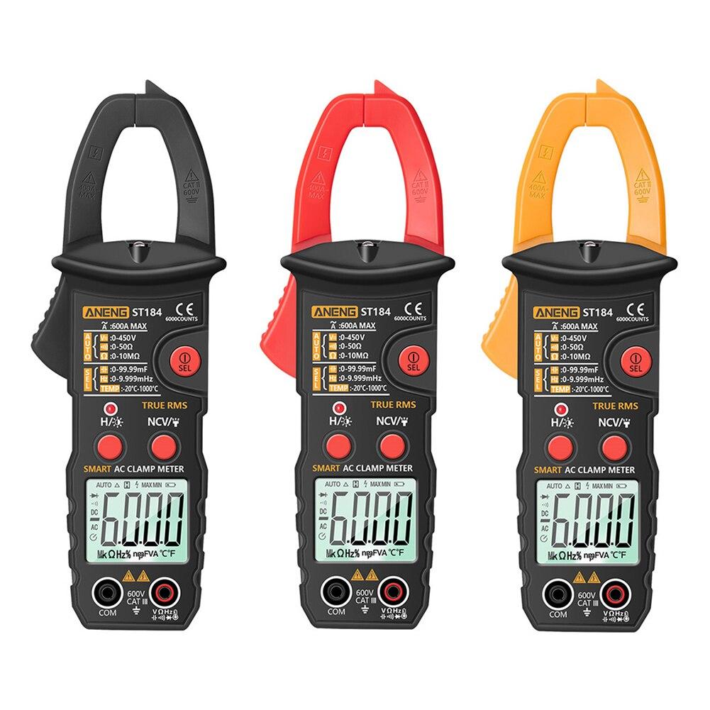 Aneng ST184 Digitale Multimeter Stroomtang True Rms 6000 Telt Professionele Meten Tester Ac / Dc Spanning Ac Ohm