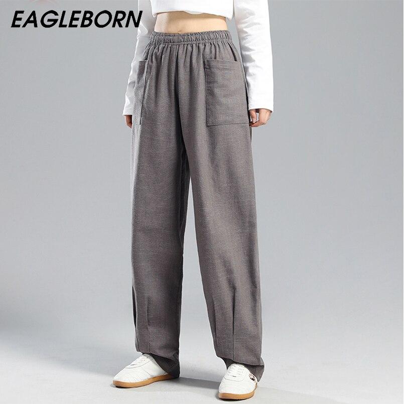 New Design Tai Chi Pants Women Loose Cotton Linen Chinese Style Casual Kung Fu Men and Women Trousers Yoga Tai Chi Sports Pants недорого
