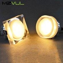 LED en cristal downlight 5W 10W 12W spot lumière LED 110V 220V encastré lampe à LED pour led de décoration pour la maison led encastré plafonnier