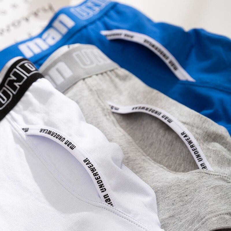 4pcs boxer mens underwear men cotton underpants male pure men panties shorts underwear boxer shorts  cotton solid cuecas 365
