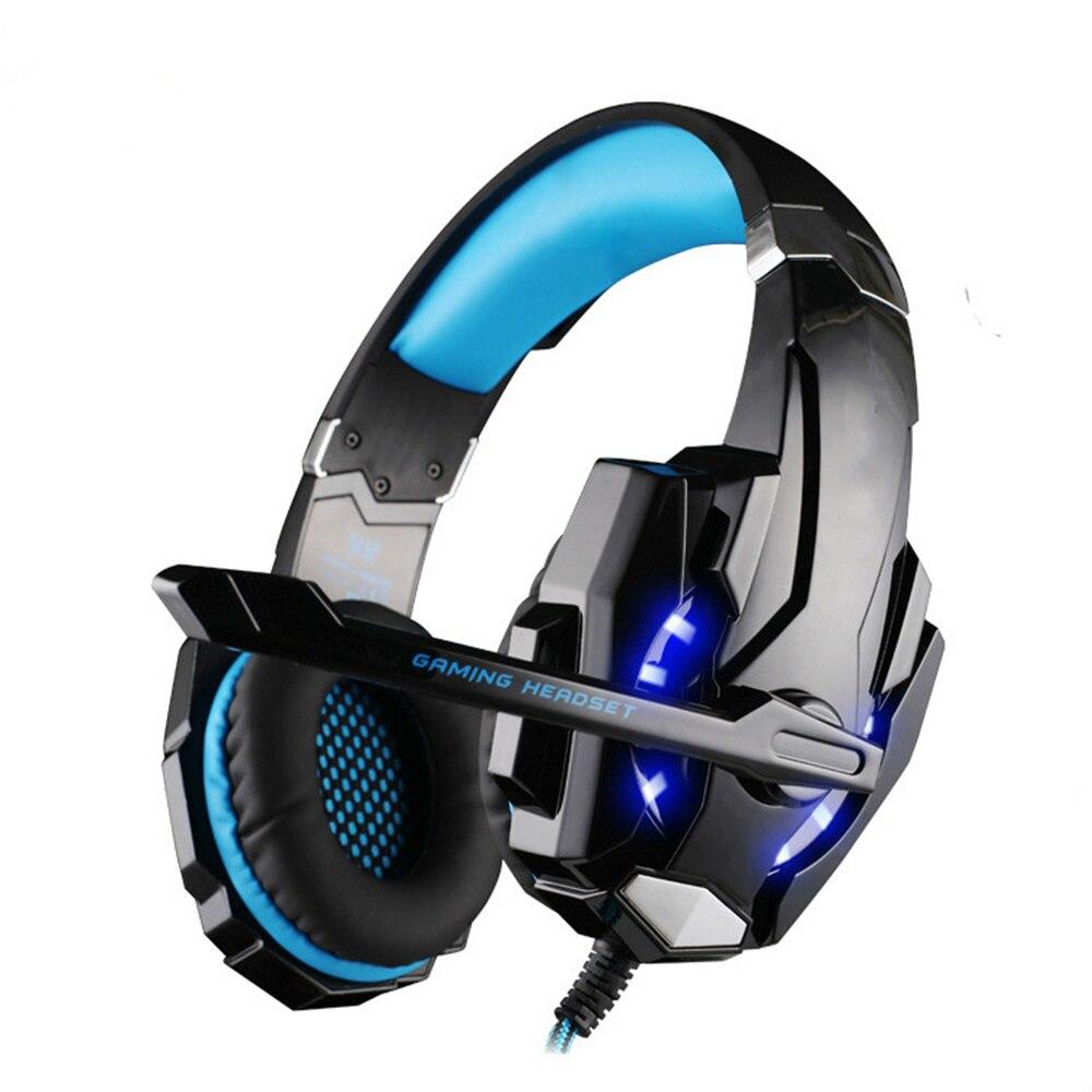 Auriculares para juegos, grandes auriculares con micrófono ligero estéreo, graves profundos para jugadores de ordenadores y PC