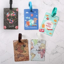 1pc Luggage Tag Id Tag Travel Bag Suitcase Identification Label Baggage Boarding Summer Beach World
