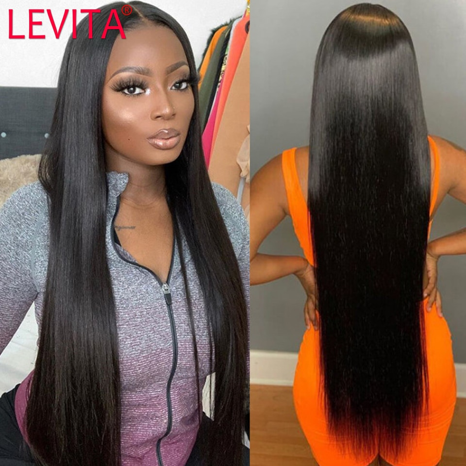 long wig 28 30 inch lace front wig straight lace front wig Brazilian Lace front Human Hair Wigs for black women lace closure wig