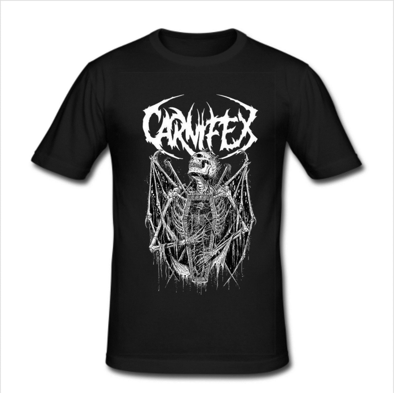 Mens Slim Fit T camisa talla XL-Carnifex americano banda Deathcore 2019 nuevo Casual de manga corta Camiseta de