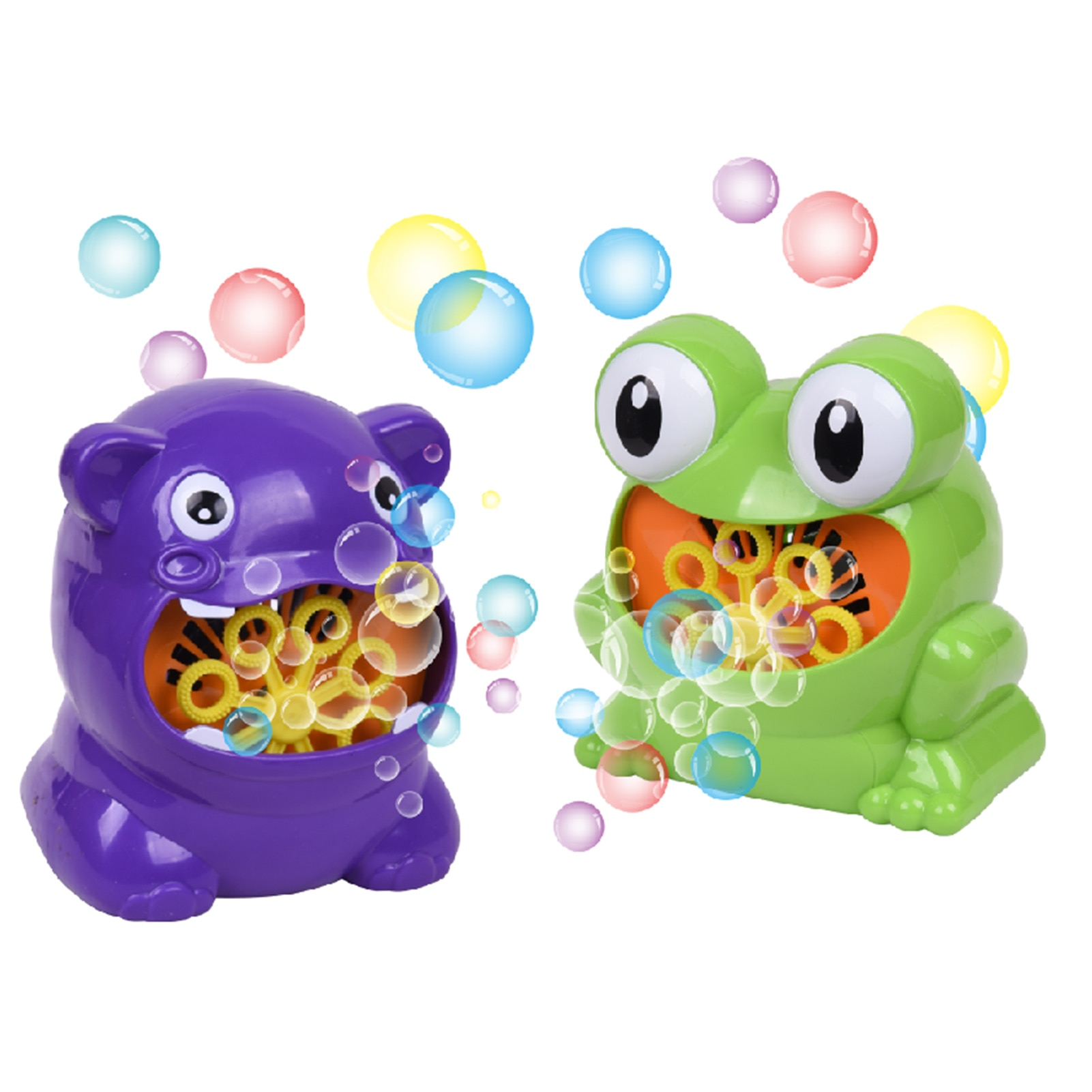 Children's Electric Bubble Blowing Toy Funny Cartoon Frog Hippo Automatic Bubble Machine Blowing Bubble Bath Toy Baby Gift electric blowing bubble stick toy automatic magic stick bubble machine children blowing bubble outdoor toy