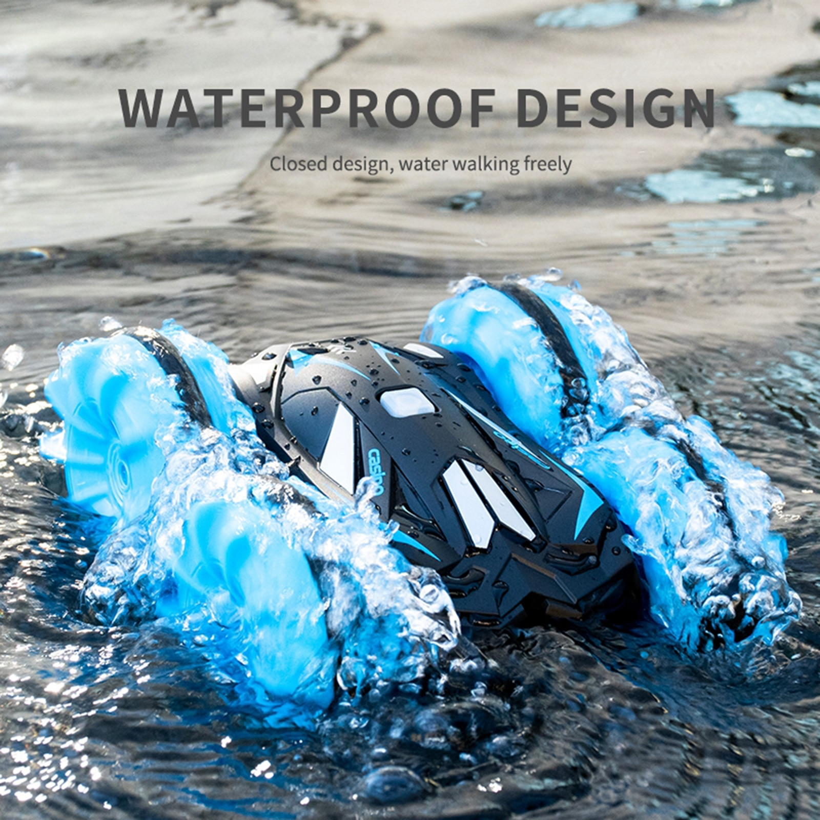 Waterproof 1/20 RC Stunt Car Racing Monster Truck Electric Radio Control On Water And Land Rechargeable 360° Rotating enlarge