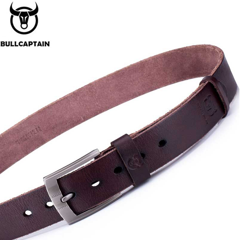 BULLCAPTAIN leather belt thick young middle-aged first layer cowhide men's casual soft leather pin buckle business belt