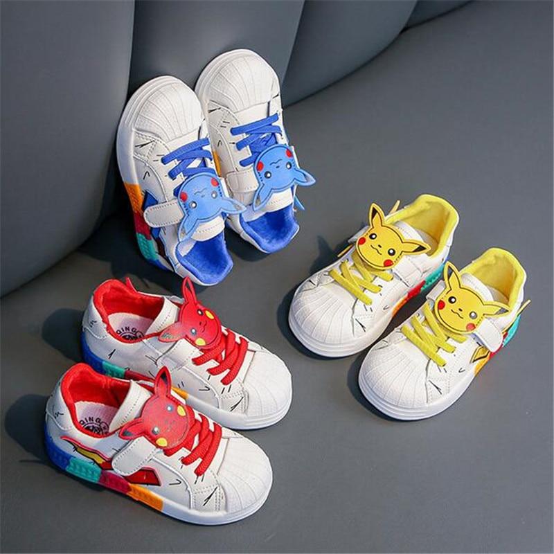 Spring Autumn Kids Shoes Cartoons Baby Boys Girls Children's Casual Sneakers Warm Soft Anti-Slip Run
