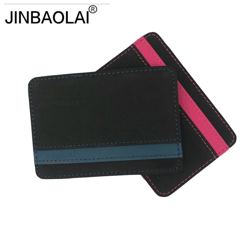 JINBAOLAI, cartera mágica delgada para hombre, monedero de piel sintética de alta calidad, cartera mágica Masculina, billeteras pequeñas Monnaie 2020
