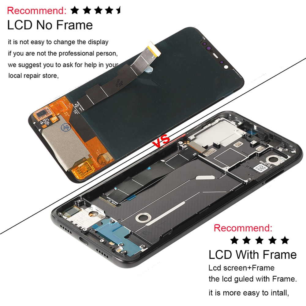 Amoled Screen For Xiaomi Mi 8 Mi8 LCD Display Touch Screen Replacement Digitizer Assembly On For Xiaomi Mi 8 M1803E1A LCD Screen enlarge