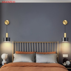 Nordic wall lamp bedroom bedside lamp modern minimalist living room background wall lamp creative personality aisle lamp