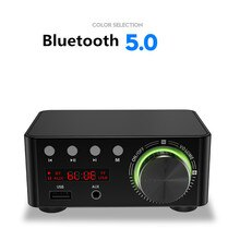 YENI 50W * 2 Mini Sınıf D Stereo Bluetooth 5.0 TPA3116 Dijital güç amplifikatörü TF 3.5mm USB Girişi Hifi ses Ev AMP Için Mobil