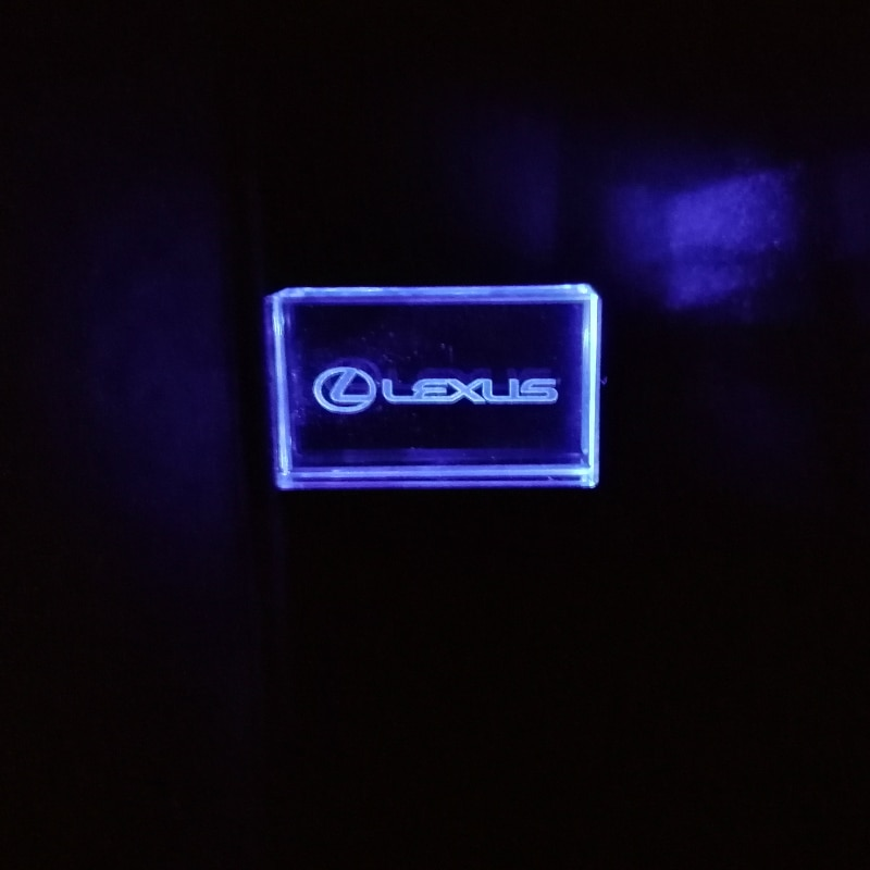 Logotipo de coche Lexus modelo con blanco amarillo Azul Rojo luz 64GB USB Flash Drive 4GB 8GB 16GB 32GB piedra pen drive regalo especial
