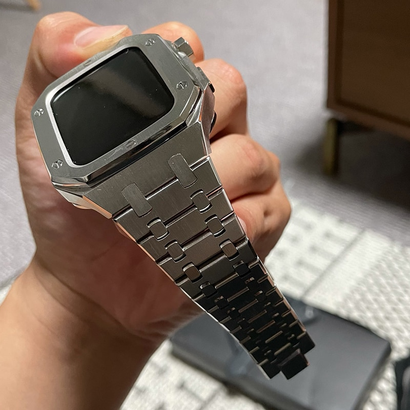 44mm For iWatch Series 6 SE 6 5 Metal smart WatchBand Stainless steel set Watch Case with RepairTools bracelet sports Wristbands enlarge