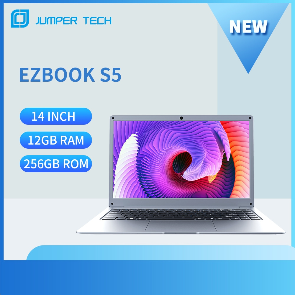 Jumper EZbook S5 14 Inch Laptop 12GB 256GB 1920*1080 IPS Screen Ultra Slim Notebook Intel Celeron Windows 10 Computer