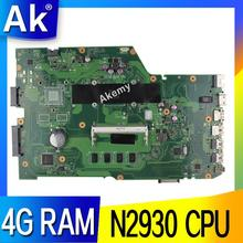 AK X751MA Laptop motherboard for ASUS X751MA X751MJ X751M X751 Test original mainboard 4G RAM N2930 CPU