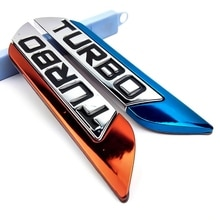 3D Metal TURBO Turbocharged Car Sticker Logo Emblem Badge Decals Car Styling DIY Decoration Accessor