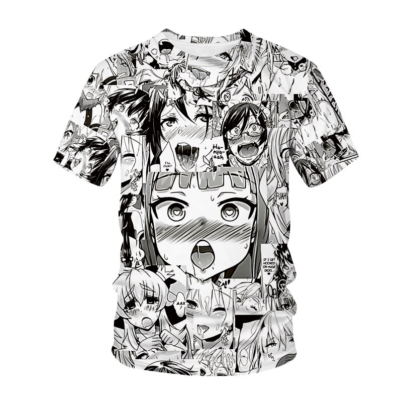 New T-shirt Anime 3D Printing Men Women Streetwear Lolita Anime O Neck Hip Hop T-shirt Harajuku Casu