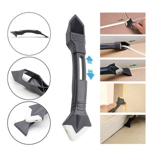3/5 In 1 Silicone Scraper Sealant Remover Tool Set Caulking Finisher Smooth Scraper Removal Stainless Steel/Plastic Hand Tool