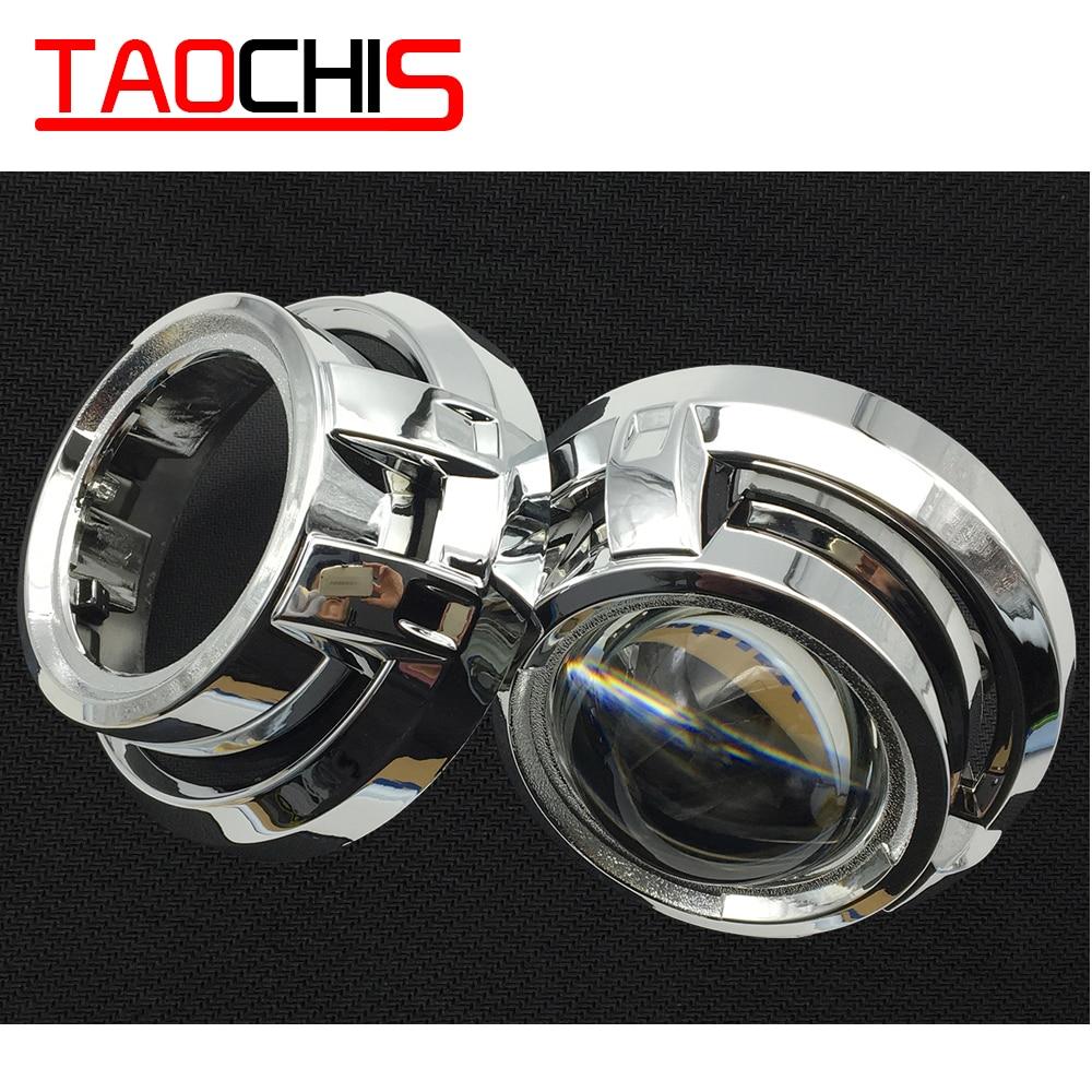 Taochis estilo do carro mortalhas máscara para 3.0 polegada hella 3r g5 3/5 koito q5 bi xenon lente do projetor retrofit cabeça luz