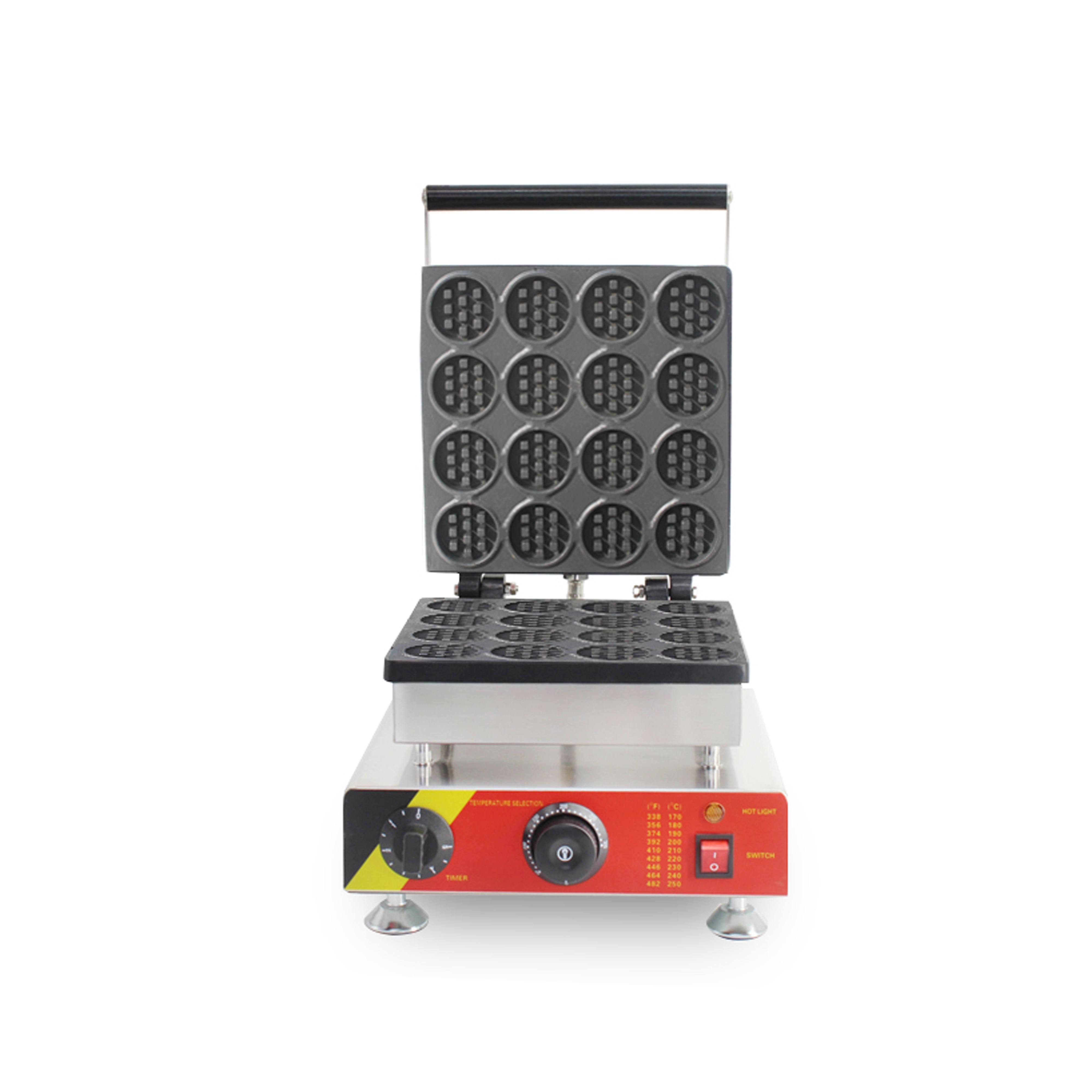 Mini waffle redondo maker16 Uds máquina de waffle en forma de piruleta con CE para la venta