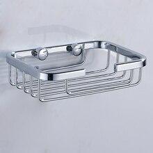 Jabonera de aluminio de espacio Superior, accesorios de baño, jabonera montada en la pared, jabonera de superficie anodizada, jabonera de cocina