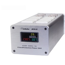 AC8.8 3 IN 1 Digital Display Audio Power Filter Power Purifier AC Steckdose 110-250V 3000W 15A Y