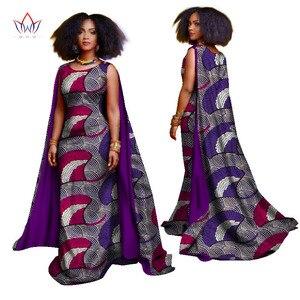Женская африканская одежда больших размеров, Дашики, накидка с рукавом, длинное вечернее платье, базин богатый, элегантные африканские Воще...