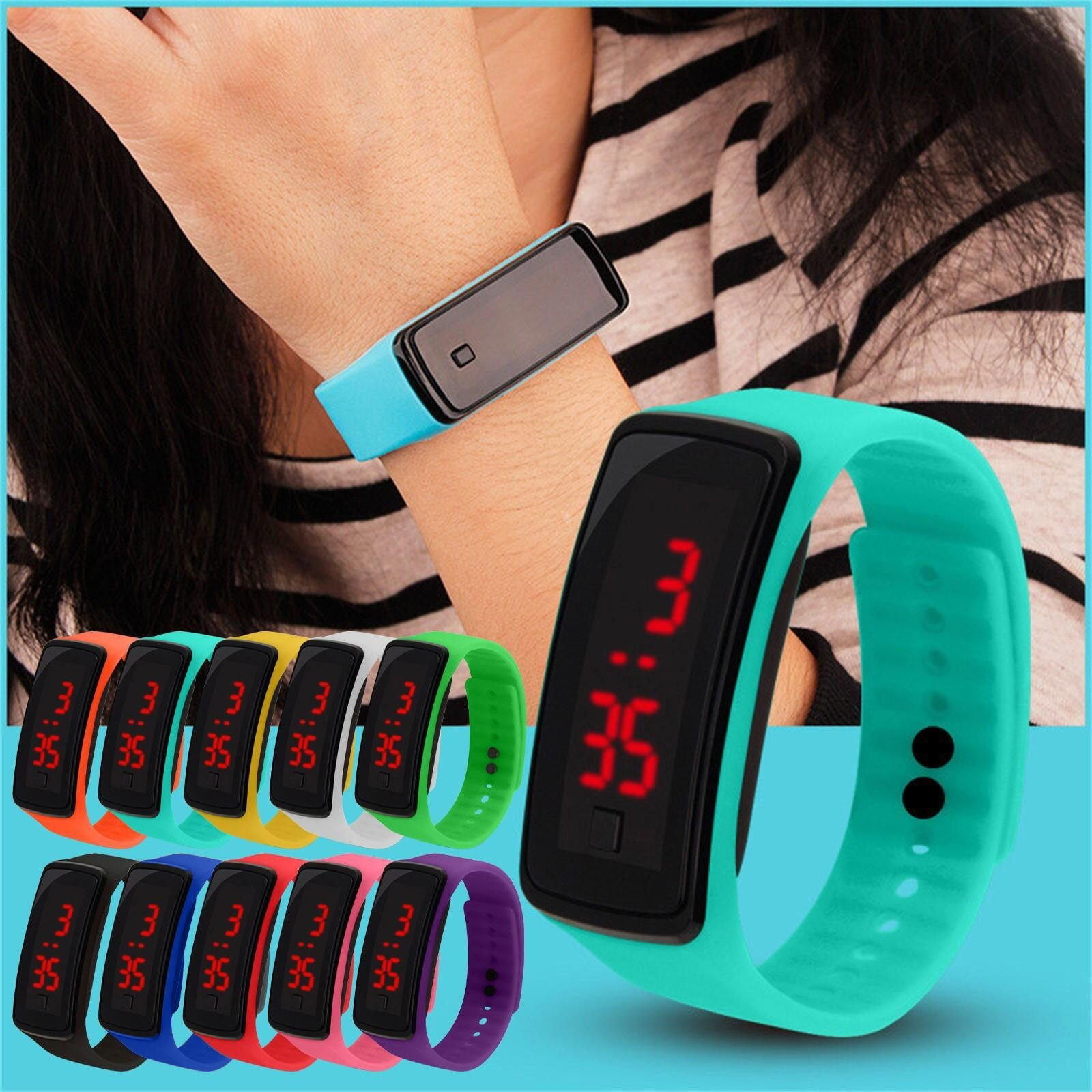 Child Watches New LED Digital Wrist Watch Bracelet Kids Outdoor Sports Watch For Boys Girls Electron