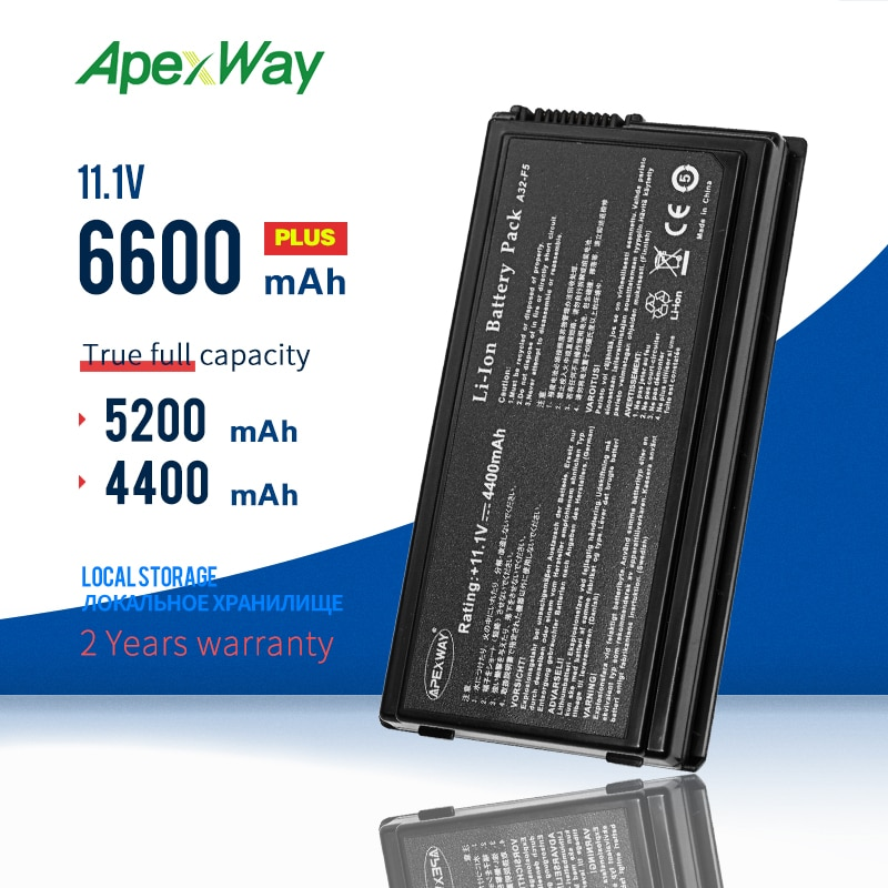 Apexway A32-F5 batería de portátil para ASUS F5C F5M F5R F5SL F5V...