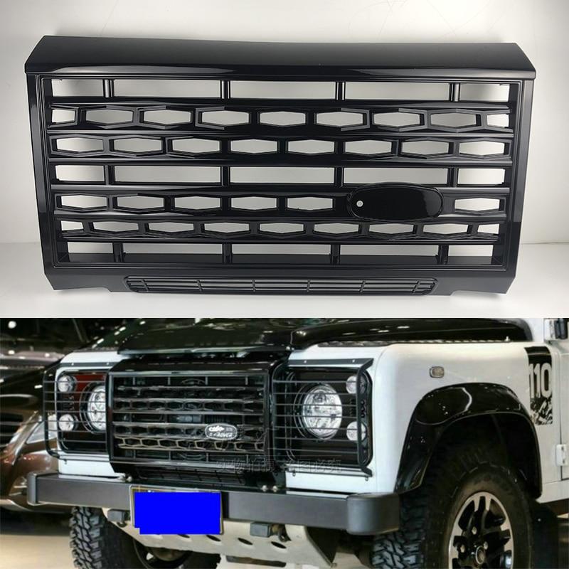 السيارات أجزاء الخارجي الجبهة مصبغة صالح لل قديم لاند روفر ديفندر 90 110 ثنية جزء اكسسوارات abs الأسود شواء