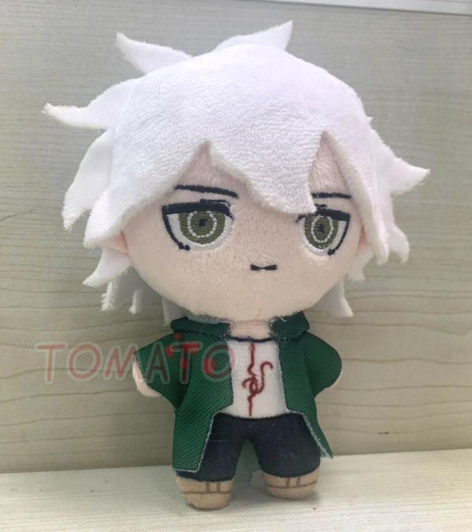 Hot Anime Danganronpa Dangan Ronpa Nagito Komaeda Cute Soft Plush Dolls Keychain Pendant Toy Cartoon Keyring Cosplay Xmas Gifts