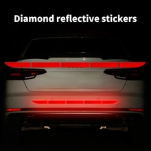 5pcs/set Car Reflective Sticker 90cm Safety Warning Reflector Car Body Trunk Exterior Accessories Re