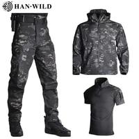 tad shark skin hunting army jacket pants shirts camping suits waterproof windproof jackets softshell military uniform clothes