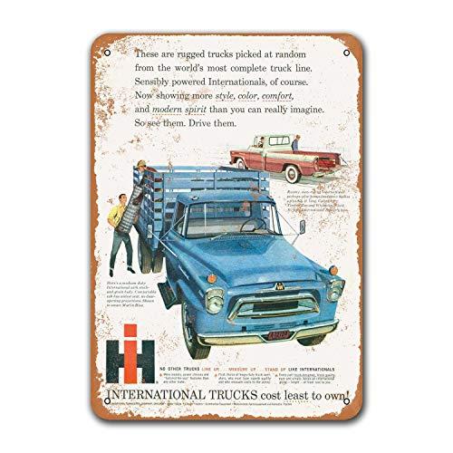 Постер для бара, винтажные автомобильные оловянные знаки, металлические офисные игровые комнаты, Grage Man пещера Sgins 1958, международные грузови...