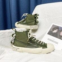 Novedad de 2020, zapatos de lona de alta calidad para hombre, zapatos informales con cordones, zapatillas de plataforma, zapatillas de Skate Unisex para adulto liso elegante