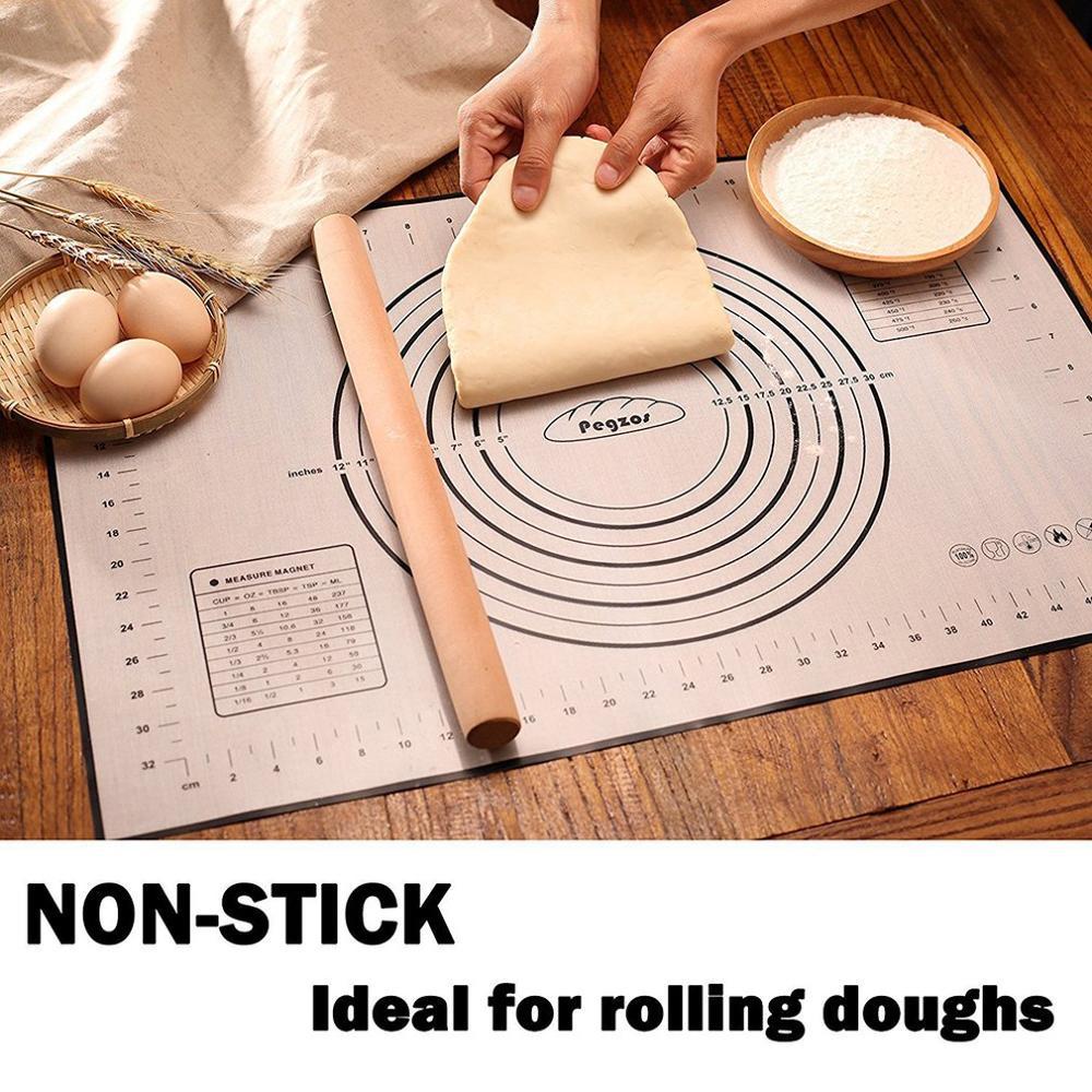 No-silicona, alfombrilla lámina para hornear de masa de Pizza masa de galleta macarrón para hornear utensilios de cocina.