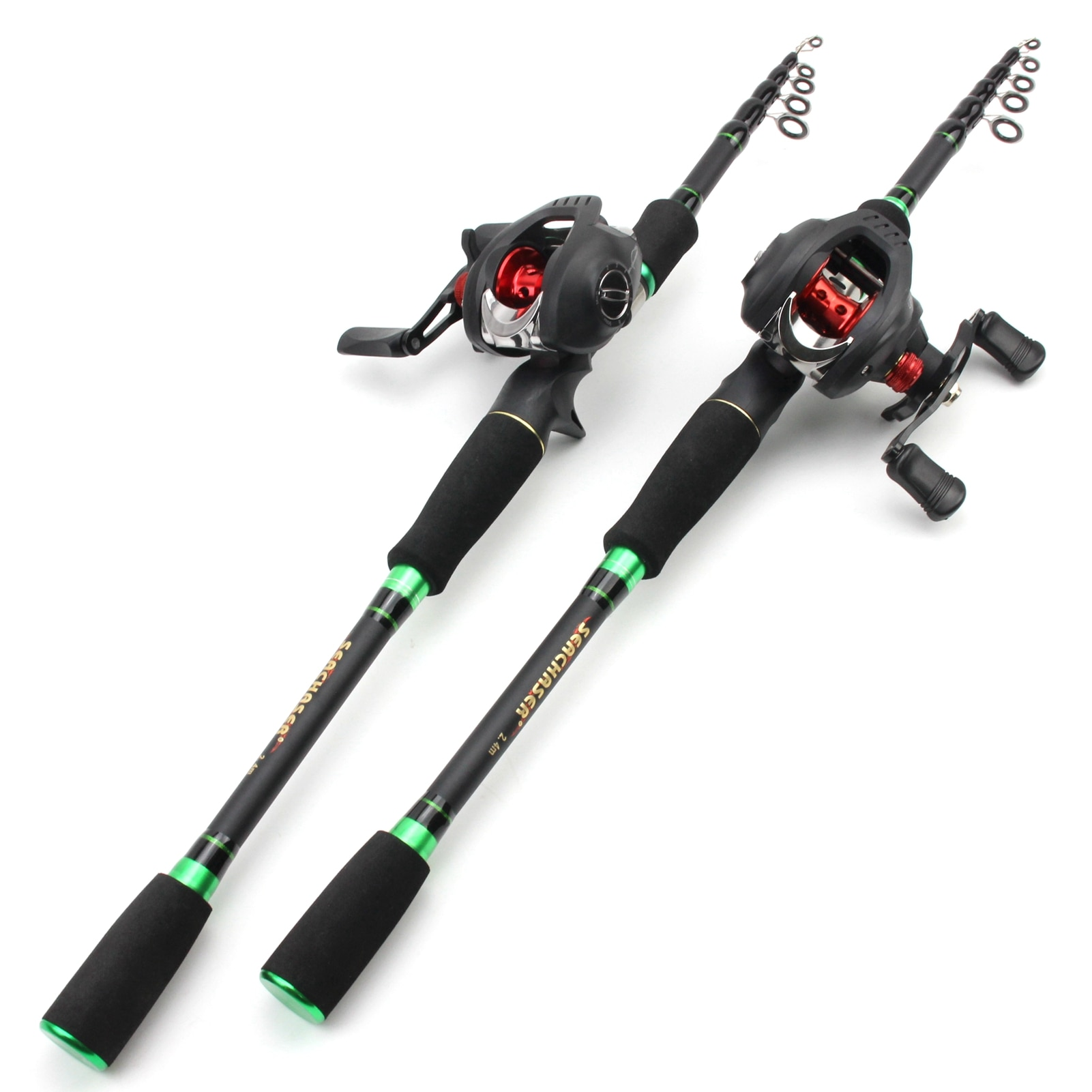 1.8M 2.1M 2.4M 2.7M Fishing rod with reel Casting Rod and Casting Reel set carbon lure  fishing rod Lure Weight 7-28g M power enlarge