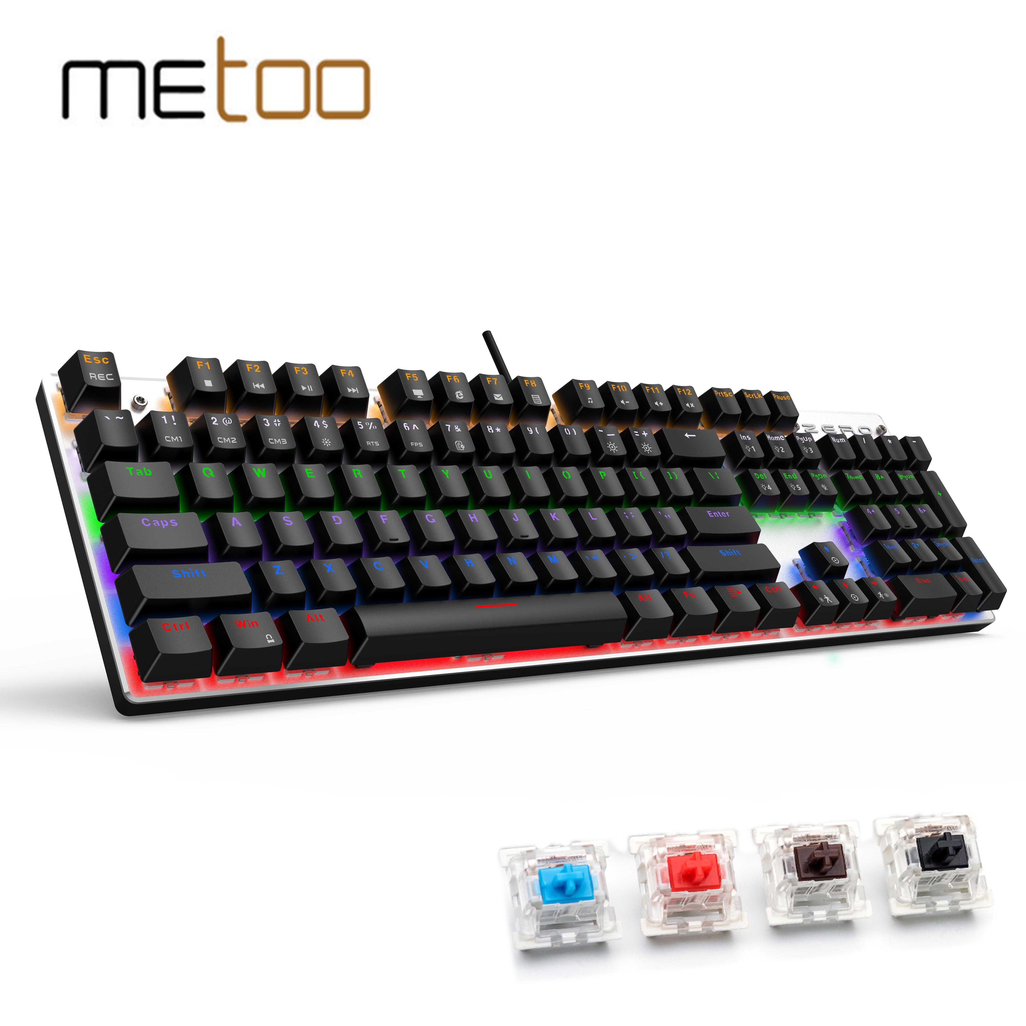 Gaming Mechanical Keyboard, 87/104 Keys Red Switch Backlight Keyboards For Tablet Desktop Russian