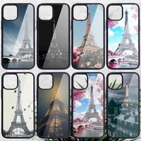 eiffel tower phone case pc for iphone 11 12 pro xs max 8 7 6 6s plus x 5s se 2020 xr