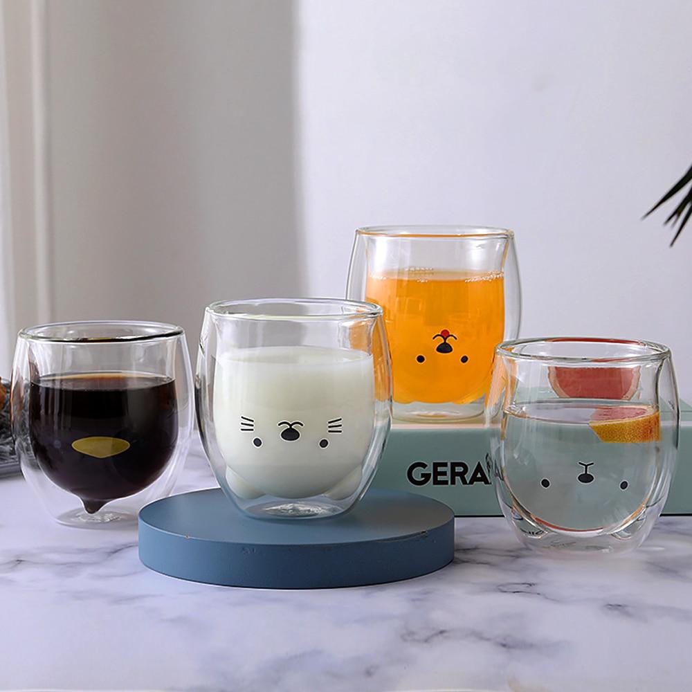 Taza creativa de café INS de 250ML, Vaso de leche de Doble...