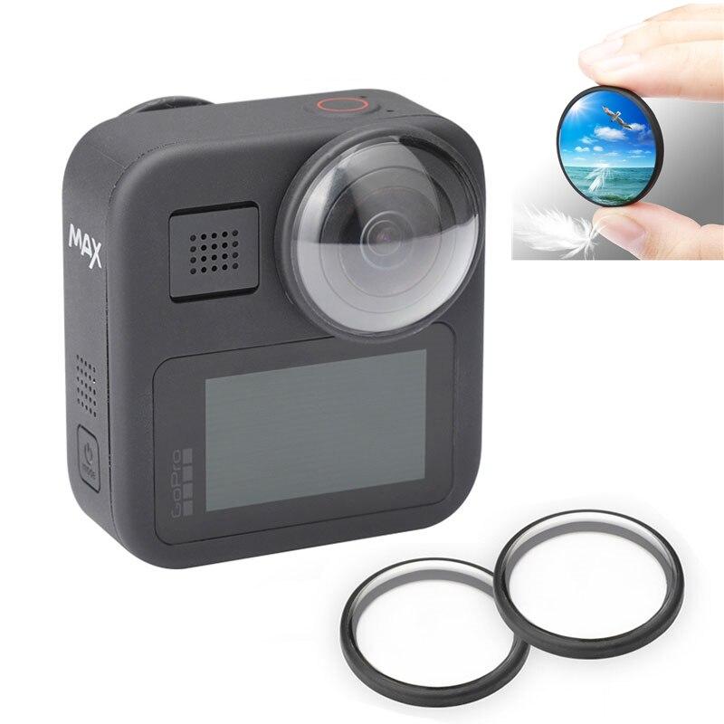 2 uds filtro UV Protector de lente cubierta protectora Anti-arañazos para GoPro Max negro HD filtro set de accesorios de cámara de acción